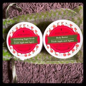 New-Body Satin Exfoliating Sugar Scrub/Body Butter